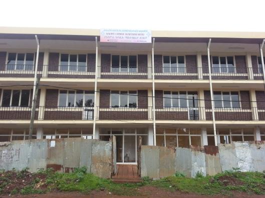 Het kantoor van NCI in aanbouw