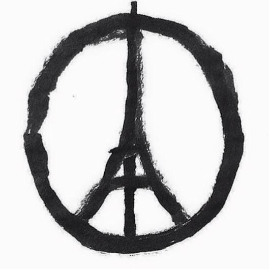 'Peace for Paris'-symbool van Jean Jullien